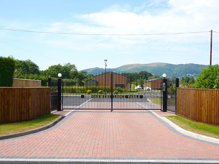 Oakmere Lodge Park Private Gated Entrance