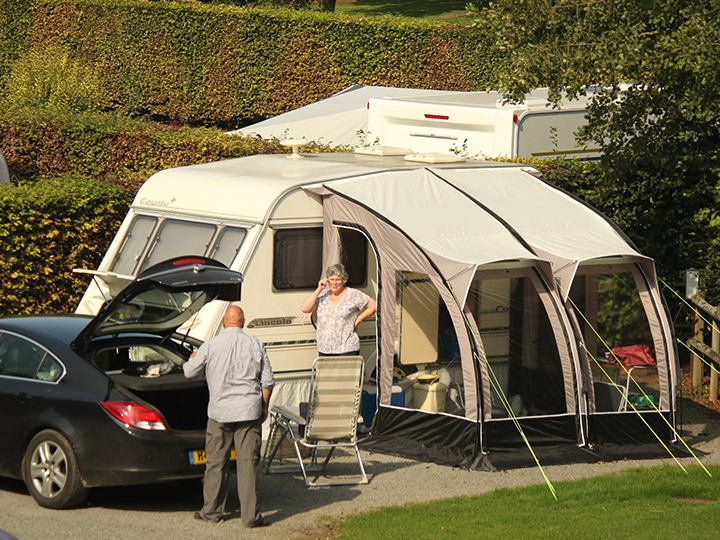 Touring caravans, motorhomes and tents are all welcome