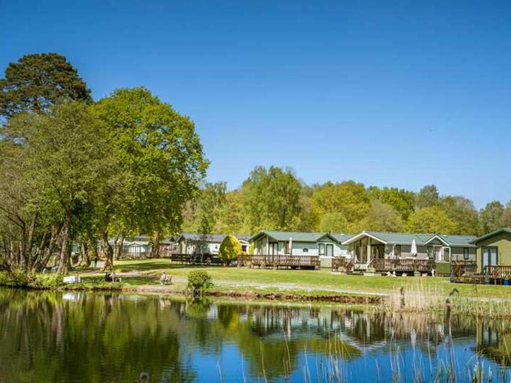 Across the bay, at Pearl Lake Country Holiday Park, Herefordshire