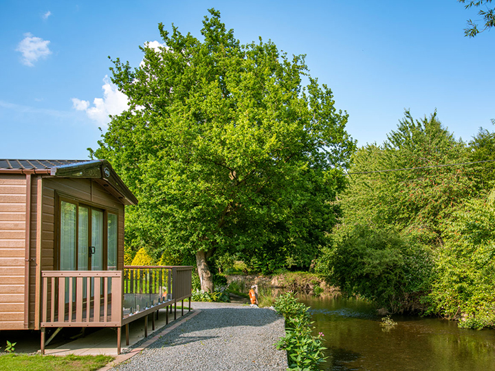 Riverside holiday homes