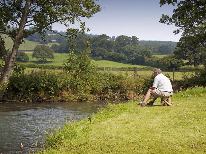 fishing the River Lugg at Rockbridge
