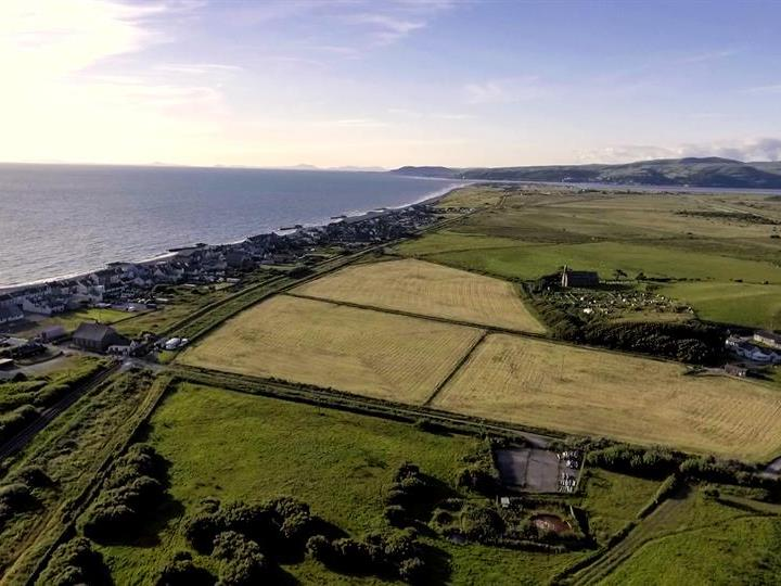 Aerial view of Borth village