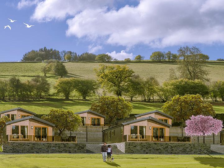 artist impression of new premium lodge pitches at Rockbridge