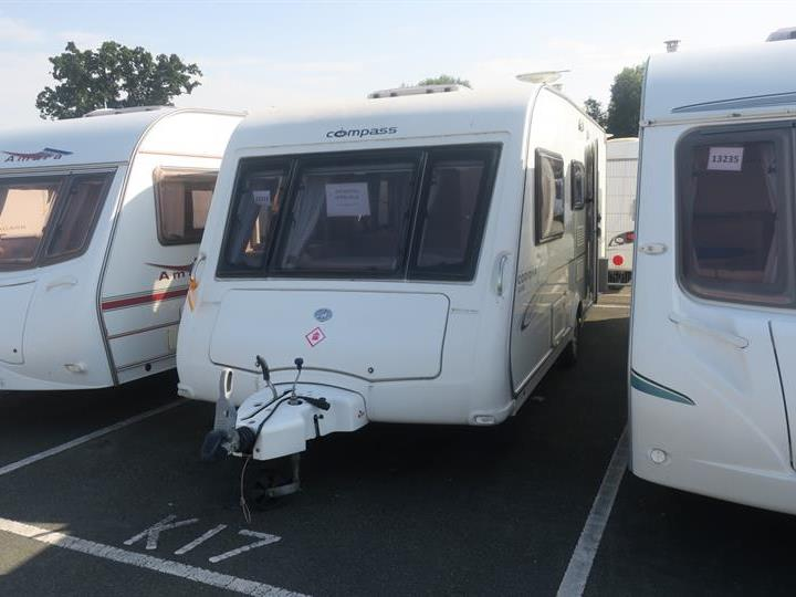 Used Touring Caravans-Compass Corona Club 524