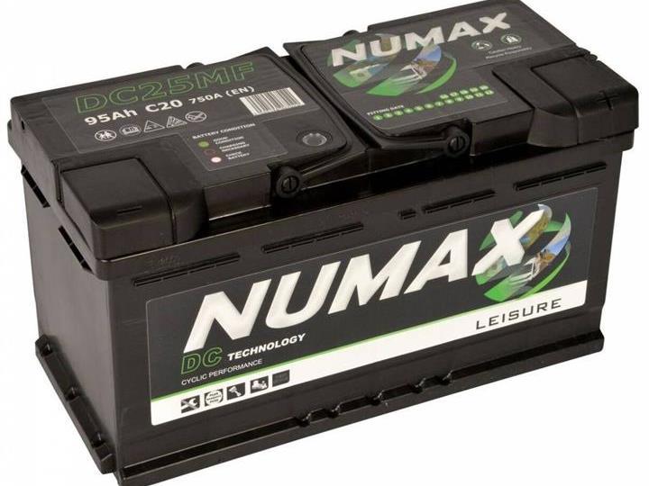 Caravan Accessories-Numax DC25 105AH Low-Line Leisure Battery